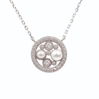 Latelita Lulu White Pearl Silver Pendant Necklace