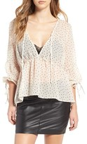 For Love & Lemons Women's Truffles Polka Dot Blouse