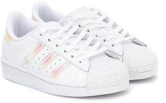 Adidas Originals Kids Superstar leather trainers