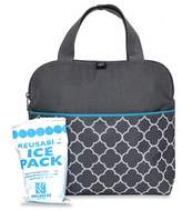 J L Childress MaxiCOOLTM Insulated 4-Bottle Cooler Tote in Grey Clover