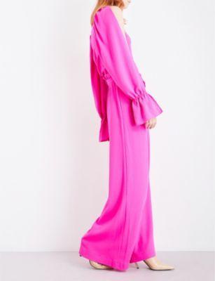 Osman Paloma high-rise wool-crepe trousers