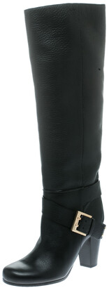 Chloé Black Leather Knee High Boots Size 38