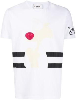 Iceberg logo sleeve T-shirt