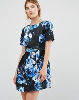 Girls On Film Floral Fit And Flare Dress