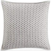 "Hotel Collection Fretwork Pintucked Stripe 18"" Square Decorative Pillow, Created for Macy's Bedding"