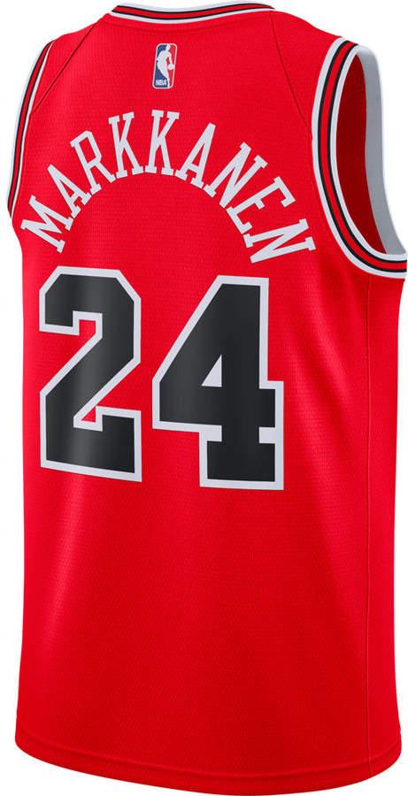 online retailer f219e 27cad Men's Chicago Bulls NBA Lauri Markkanen Icon Edition Connected Jersey