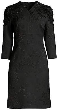 Escada Women's Delphine Beaded Jacquard Shift Dress