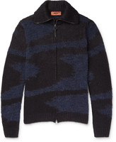Missoni Textured-Knit Zip-Up Sweater