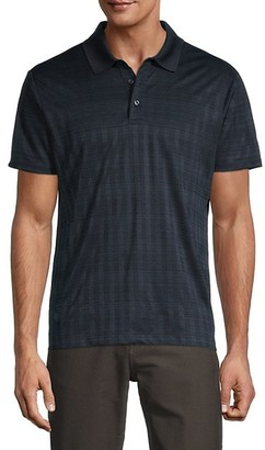 Perry Ellis Printed Short-Sleeve Polo