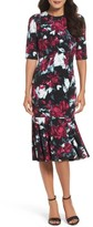 Maggy London Women's Print Midi Dress