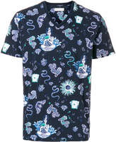 Etro snake butterfly print T-shirt