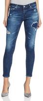 AG Jeans Rev Distressed Super Skinny Ankle Jeans
