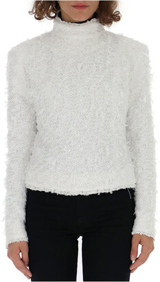 Balmain Furry Zip Sweater