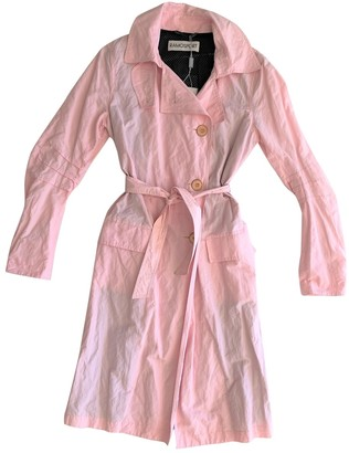 Ramosport Pink Cotton Trench Coat for Women