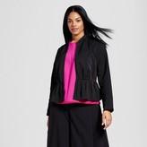 Victoria Beckham for Target Women's Plus Black Peplum Jacket