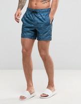 Hollister Swim Shorts Rigid Guard Logo In Blue Camo