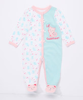 Buster Brown Clearwater & Orchid Pink 'Lil' Sweetheart' Interlock Footie