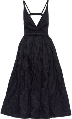 Prada plunging V-neck Duchess dress