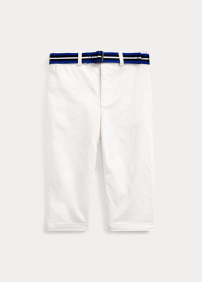 Ralph Lauren Belted Stretch Cotton Chino