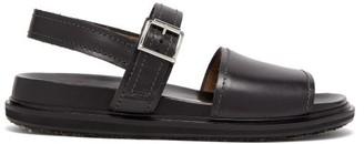 Marni Jute-sole Leather Sandals - Mens - Black