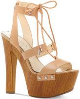 Jessica Simpson Doreena Platform Lace-Up Sandals Women's Shoes