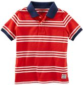 Osh Kosh Boys 4-7x Striped Jersey Polo