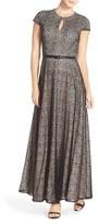 Alex Evenings Petite Women's Lace Fit & Flare Gown
