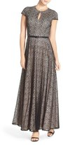 Alex Evenings Women's Lace Fit & Flare Gown