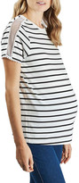 Topshop Stripe Mesh Inset Tee (Maternity)