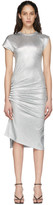 Paco Rabanne Silver Gathered Jersey Dress