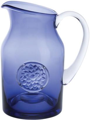 Dartington Crystal Dhalia Flower Bottle Vase, Amethyst, H21.5cm