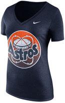 Nike Women's Houston Astros Coop V-Neck Logo T-Shirt