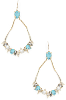 Alexis Bittar Elements Spiked Stone Cluster Wire Statement Earrings