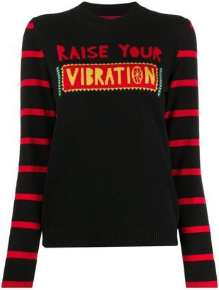 La DoubleJ Vibration slogan knit jumper