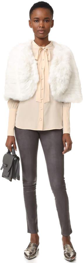 Adrienne Landau Knit Fur Capelet