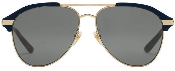 84b7a8bce9 Gucci Gold Eyewear For Men - ShopStyle Australia