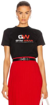 Balenciaga Small Fit Gymwear T Shirt in Black | FWRD
