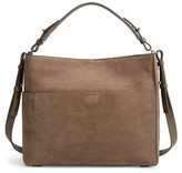AllSaints Cooper Nubuck Calfskin Leather Tote - Grey