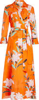 Diane von Furstenberg Printed Shirt Dress in Cotton and Silk