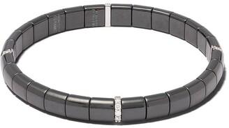 Roberto Demeglio 18kt white gold, diamond and black ceramic Domino bracelet