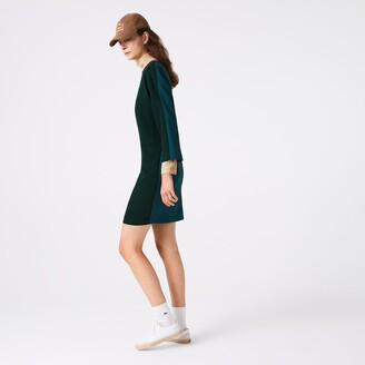 Lacoste Women's Crew Neck Flowy Dress