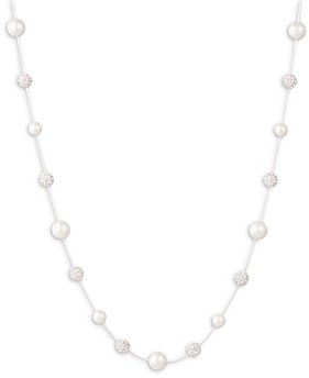 Ralph Lauren Ralph Pave Fireball & Imitation Pearl Collar Necklace, 17-20
