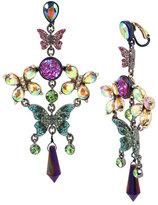 Betsey Johnson Butterfly Dreams Chandelier Clip Earrings