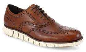 Cole Haan Men's Zerogrand Wingtip Leather Oxfords - British Tan - Size 15 M