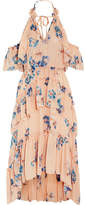Ulla Johnson Valentine Ruffled Floral-print Silk-georgette Dress - Beige
