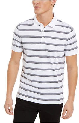 Calvin Klein Men Liquid Cotton Slim-Fit Stripe Polo Shirt