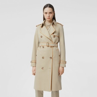 Burberry Piped Cotton Gabardine Trench Coat