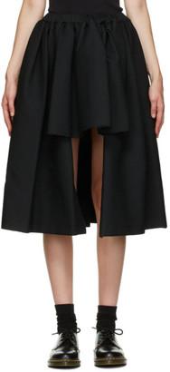 Comme des Garçons Comme des Garçons Black Short Front Midi Skirt