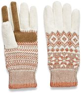 Isotoner Women's Fairisle Chenille Tech Gloves