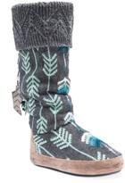 Muk Luks Winona Knit Faux Fur Lined Slipper Boot